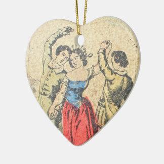 La Vera Sibilla Hanging Heart Ceramic Ornament