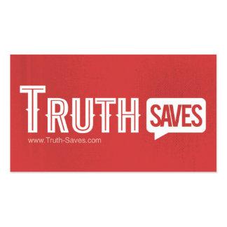 La verdad ahorra tarjetas tarjetas de visita