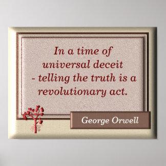 La verdad -- Cita de George Orwell - impresión del