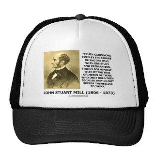 La verdad de John Stuart Mill gana más piensa cita Gorras