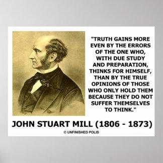 La verdad de John Stuart Mill gana más por errores Impresiones