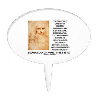 La verdad de Leonardo da Vinci no puede ser cita Figuras Para Tartas