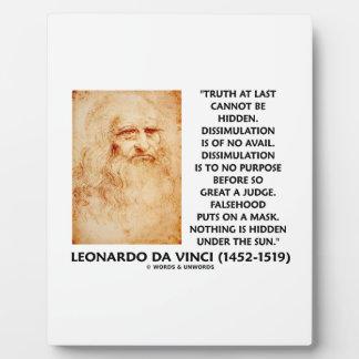 La verdad de Leonardo da Vinci no puede ser cita Placa Para Mostrar