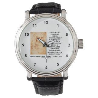 La verdad de Leonardo da Vinci no puede ser cita Relojes De Mano