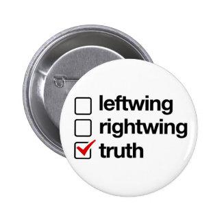 La verdad es el botón de la respuesta pin redondo de 2 pulgadas