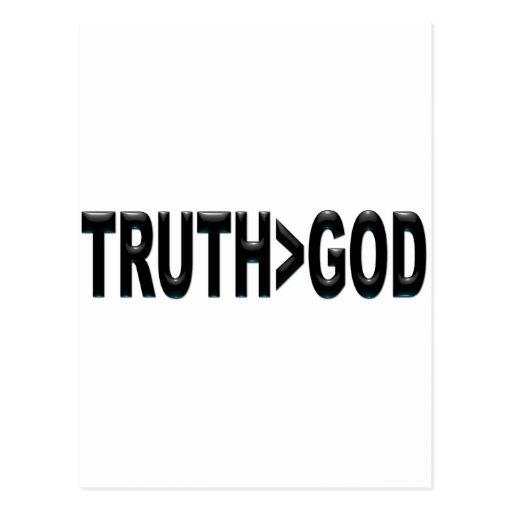La verdad es mayor que dios tarjetas postales