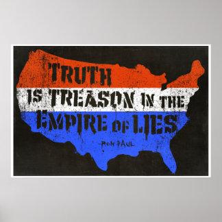 La verdad es traición en el imperio de mentiras poster