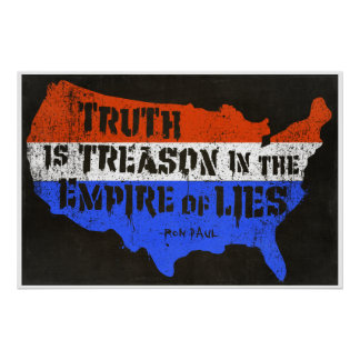 La verdad es traición en el imperio de mentiras póster