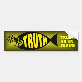 La verdad está en Jesús Pegatina De Parachoque