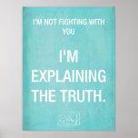 La verdad explicó el poster - azul