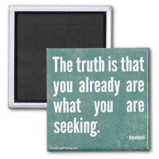 La verdad imán cuadrado