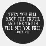 La verdad le fijará libre etiqueta redonda