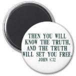 La verdad le fijará libre iman de nevera