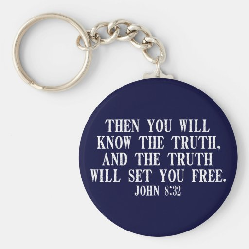 La verdad le fijará libre llavero personalizado
