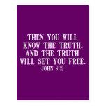 La verdad le fijará libre tarjeta postal