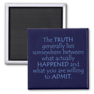 La verdad miente en alguna parte entre qué sucedió imán cuadrado