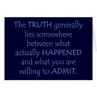 La verdad miente en alguna parte entre qué sucedió tarjetón