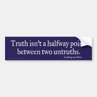 La verdad no es pegatina para el parachoques inter etiqueta de parachoque
