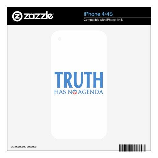 La verdad no tiene ningún orden del día skins para eliPhone 4S