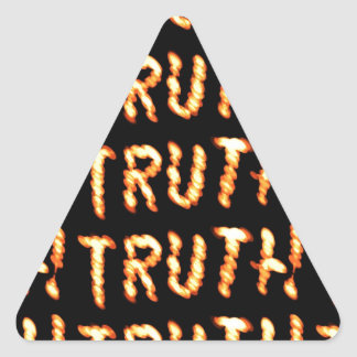 La VERDAD solamente prevalece: Enseñe las palabras Pegatina Triangular