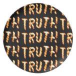 La VERDAD solamente prevalece: Enseñe las palabras Plato De Comida