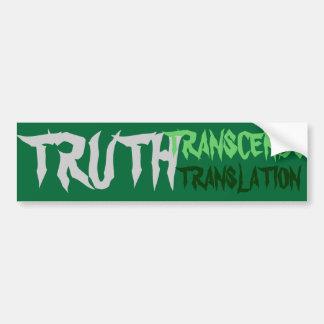 La verdad supera a la pegatina para el parachoques pegatina para auto