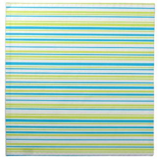 La verde lima azul raya servilletas del paño