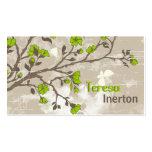 La verde lima del vintage florece el grunge floral tarjetas de negocios