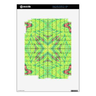 La verde lima elegante fresca X marca el punto Calcomanías Para El iPad 2