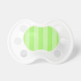 La verde lima raya los regalos de los pacificadore chupetes para bebes