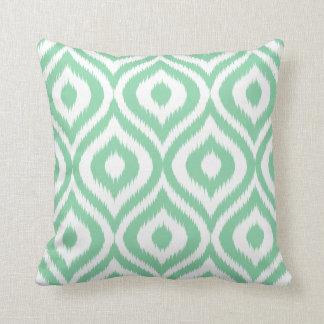 La verde menta elige su propio modelo de Ogee Ikat Cojín Decorativo