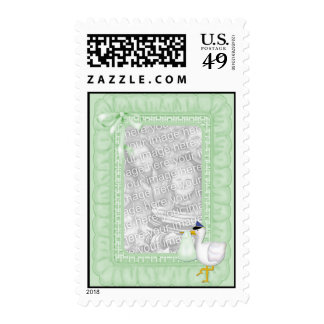 La verde menta riza franqueo de la cigüeña