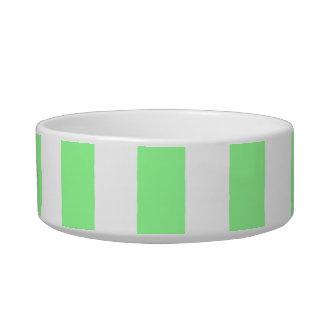 La verde menta XL blanco raya el modelo Bol Para Gato