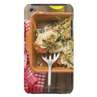 La verdura cuece con las patatas, tomates, puerros iPod touch cobertura