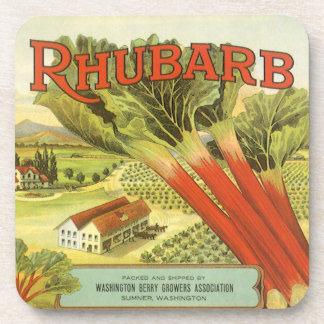 La verdura del vintage puede etiquetar el arte, posavaso