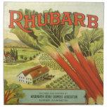 La verdura del vintage puede etiquetar el arte, servilleta de papel