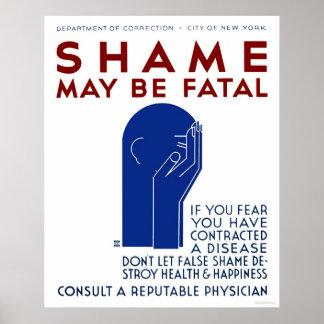 La vergüenza puede ser WPA fatal 1937 Poster