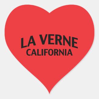La Verne California Pegatina En Forma De Corazón