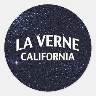 La Verne California Pegatina Redonda