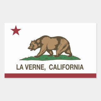 La Verne de la bandera del estado de California Pegatina Rectangular