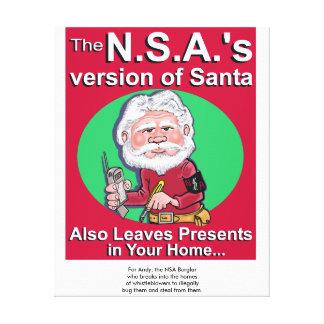 La versión de N.S.A. de Santa también deja Impresiones En Lona Estiradas