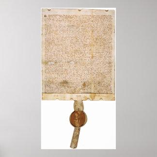 La versión ORIGINAL 1297 de la Carta Magna Poster