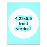 la vertical 4.25x5.5 invita invitación 10,8 x 13,9 cm