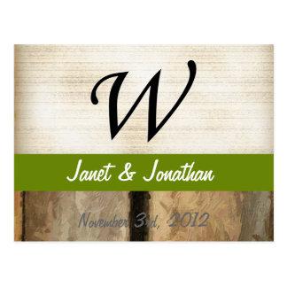 La vertical del monograma de W sube a Impasto Tarjetas Postales