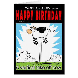 La vertical saca la vaca tarjeta de felicitación