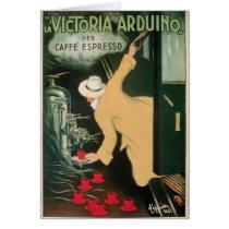 La Victoria Arduino Vintage Coffee Drink Ad Art