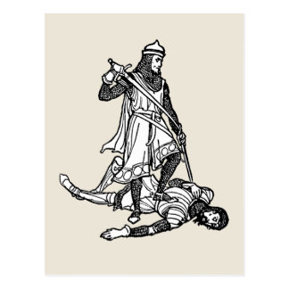 La victoria de Gawain Tarjeta Postal