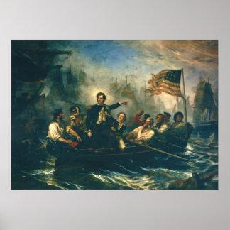 La victoria de Perry por la guerra de William Powe Póster