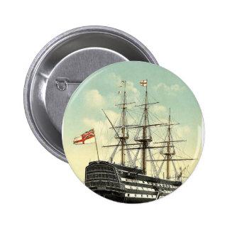 """La """"victoria"""" (el buque insignia de Nelson), popa, Pin Redondo De 2 Pulgadas"""