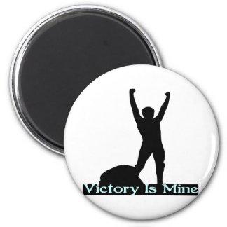 La victoria es la mía imán redondo 5 cm